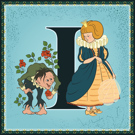 Fairytale alphabet. Letter I. The Birthday of the Infanta by Oscar Wilde Ilustração