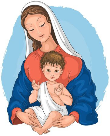 Madonna and Child. Blessed Virgin Mary with Baby Jesus