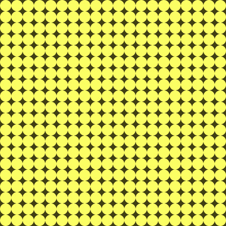 bolus: Seamless pattern with many little yellow circles Illustration