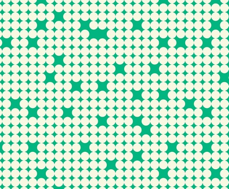 bolus: Seamless pattern with white circles on green background
