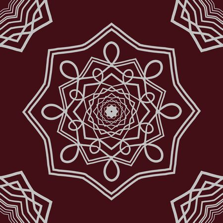 mandala: Detailed mandala on dark background