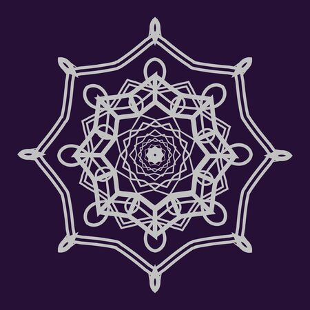 mandala: Detailed mandala on dark blue background Illustration