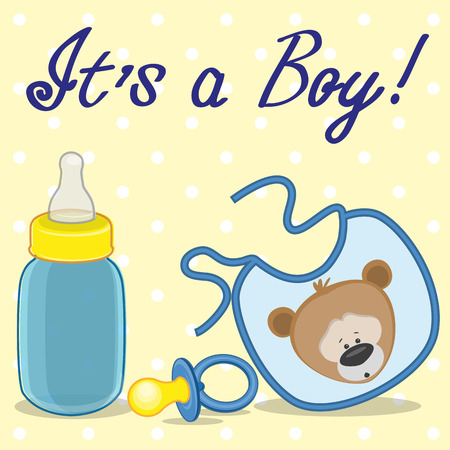 nursery accessories its a boy Vector