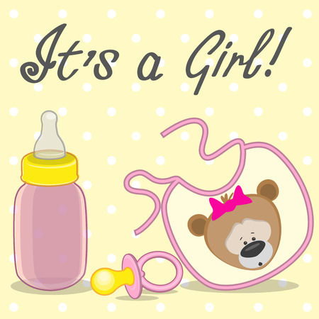 nursery accessories its a girl Vector