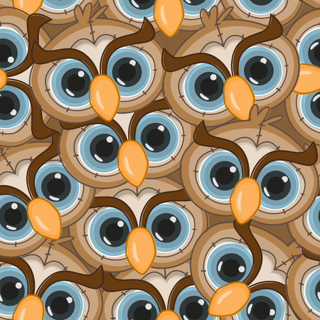 Owls seamless pattern for your design Vector