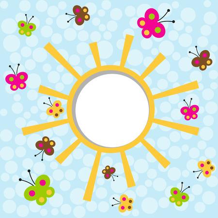 bunner: butterflies fly around the sun