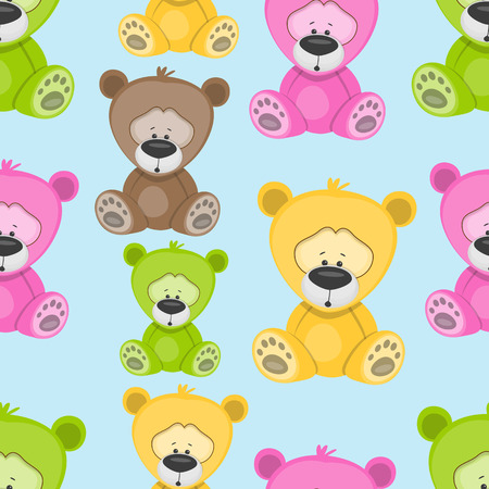 cartoons animals: Bear seamless pattern for your design