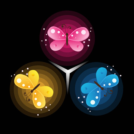 Vector abstract background with butterflies Vector