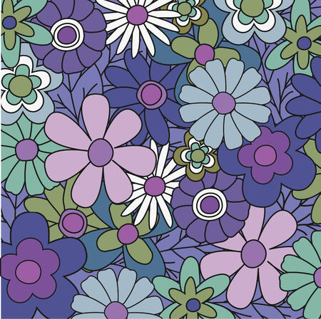 Blue colored floral background for your design Vector