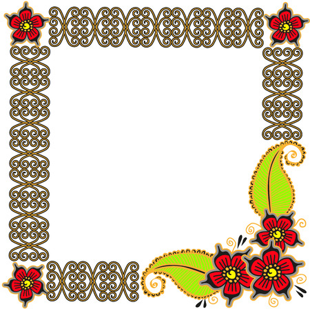 Flower frame card for your design Vector