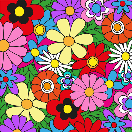 Bright colored floral background for your design Vector