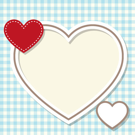 frame in the shape of heart Vector