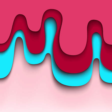 Abstract Pink background. Wavy vector design Vector