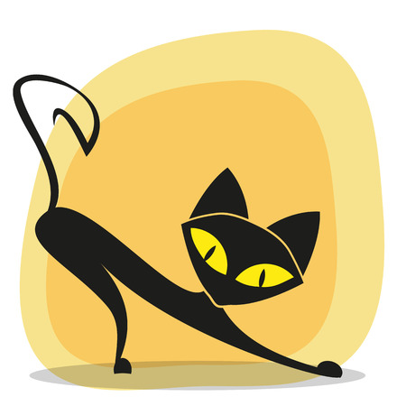 lit collection: Black cat for your design Illustration