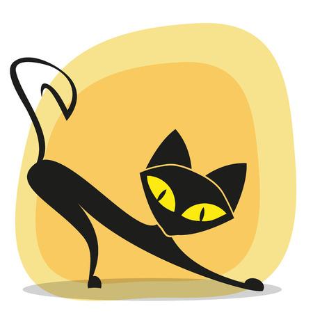 Gatto nero per la progettazione Archivio Fotografico - 27573039