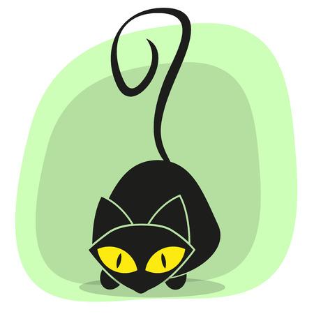 Gatto nero per la progettazione Archivio Fotografico - 27573041