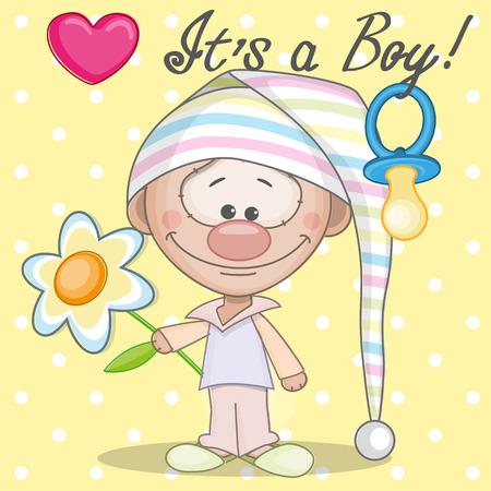 its a boy: Greeting card its a boy Illustration