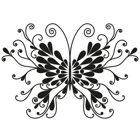 mormon: Butterfly illustration isolated on a white background