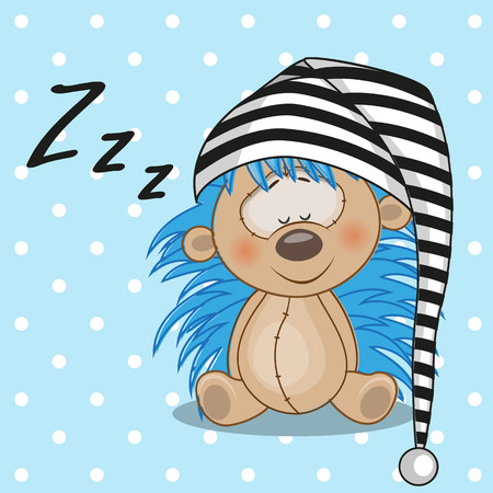 Sleeping Hedgehog in a cap Vector