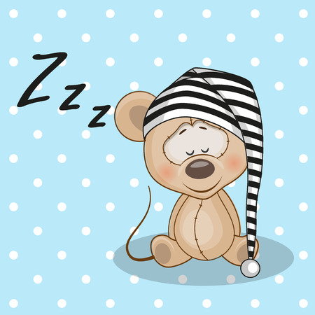 Sleeping Mouse in a cap Vector