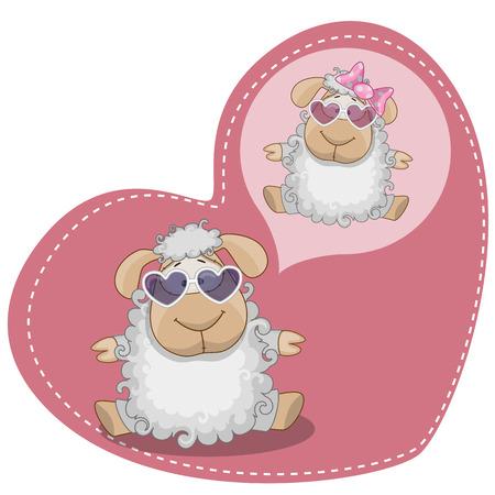 Greeting card Cute Dreaming Pig Vector