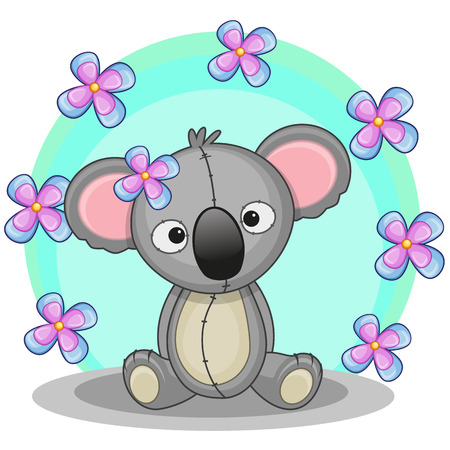 Greeting card koala with flowers royalty free cliparts vectors and greeting card koala with flowers stock vector 30259281 m4hsunfo