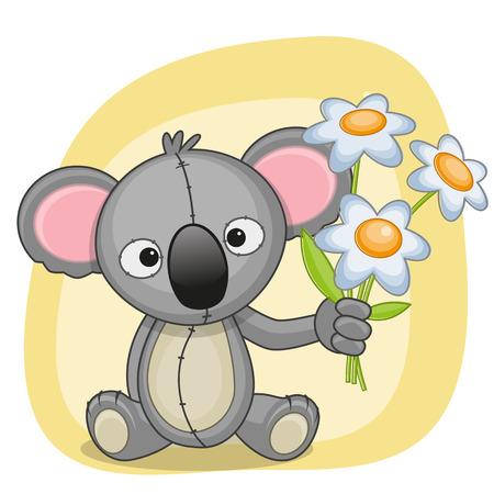Greeting card koala with flowers royalty free cliparts vectors and greeting card koala with flowers stock vector 30259292 m4hsunfo