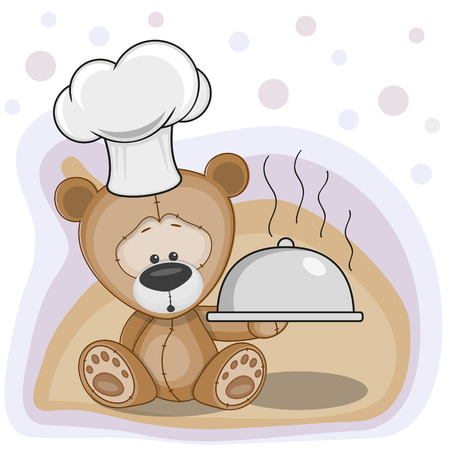 Cook Koala with a tray in hand  Vector