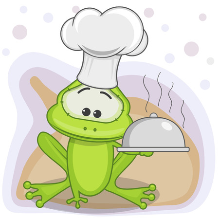 Cook Frog with a tray in hand