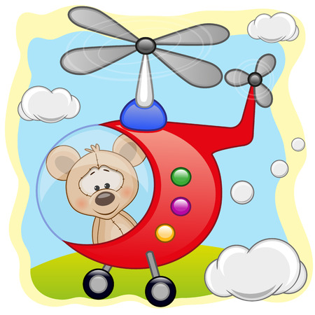 freeride: Mouse is flying in a helicopter  Illustration