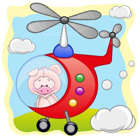 freeride: Cerdo est� volando en un helic�ptero