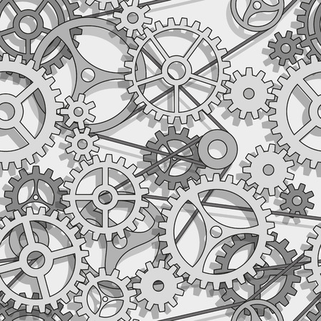 Abstract design gears, seamless pattern Vector