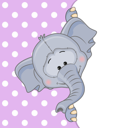 Elephant peeking out from behind the clouds