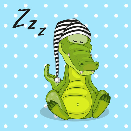 Sleeping Crocodile in a cap