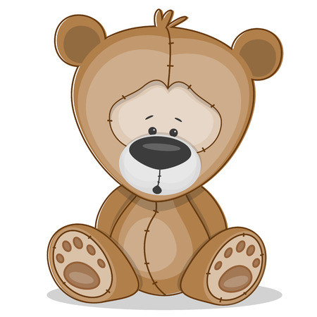 stuffed animals: Cute Bear isolated on a white background