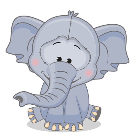 Cute Elephant isolated on a white background