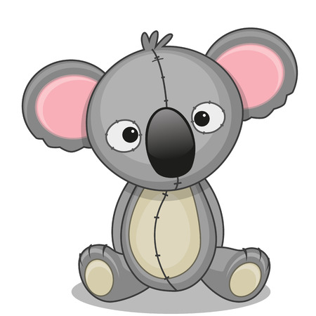Cute Koala isolated on a white background Vector