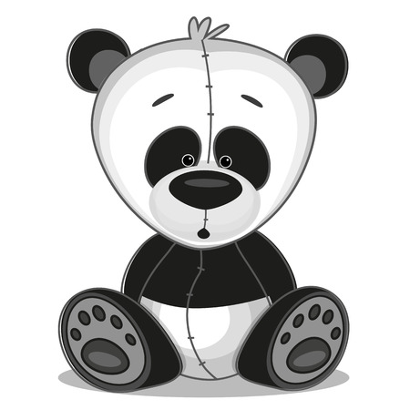 kung: Cute Panda isolated on a white background