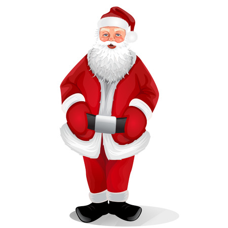 Santa isolated on a white background Vector