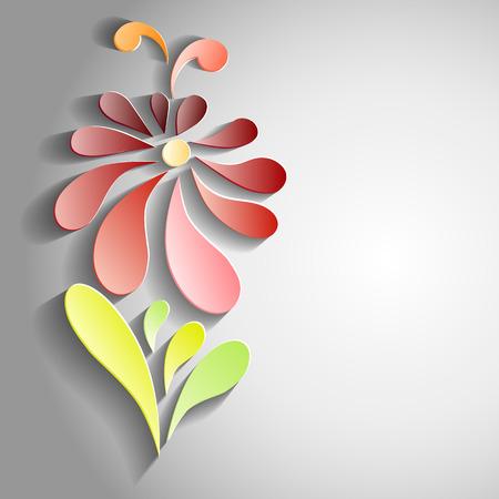 3d flower: Vector 3D flower isolated on white background Illustration