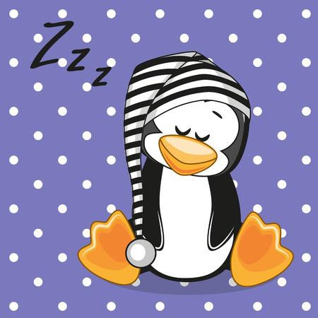 Schlafen Penguin in einer Kappe