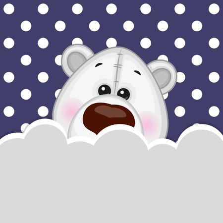 Oso polar que asoma detrás de las nubes