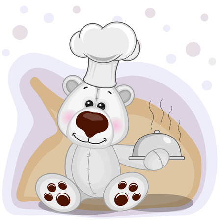 Cook Polar Bear with a tray in hand
