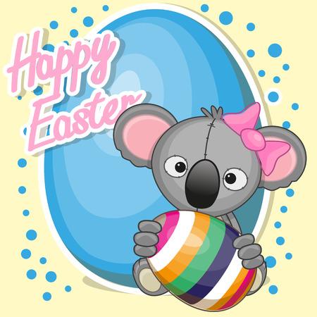 Greeting card cute koala girl with egg royalty free cliparts greeting card cute koala girl with egg stock vector 37188132 m4hsunfo