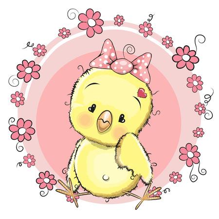 Linda chica de pollo con huevo en el prado Foto de archivo - 37363115
