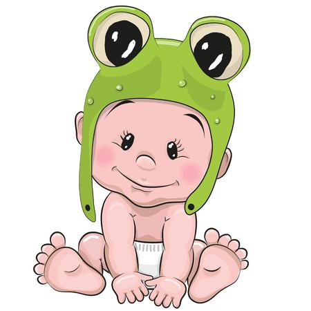 froggy: Cute Cartoon Baby in a froggy hat