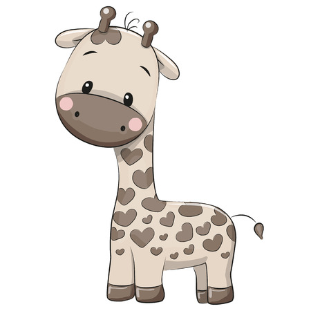 Cute Giraffe isolated on a white background Illustration