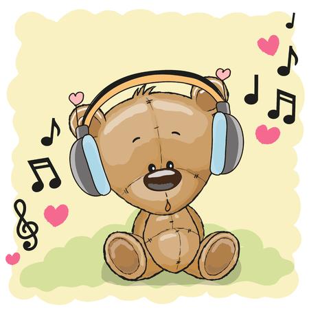 Cute cartoon Teddy Bear avec un casque
