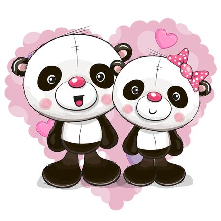 귀여운 만화 팬더입니다.