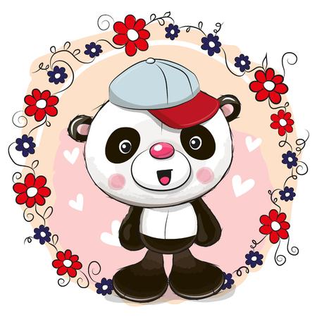 Leuke cartoon panda.